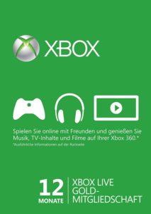 Xbox Live Gold 12 Monate Günstig